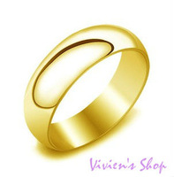 Free shipping Luxurious Plain Gold Rings Titanium Steel Rings for Men/Men's Rings R009