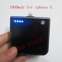 portable external battery 1900mA Backup Power Bank Mobile charger station for iphone 5 wtih free shipping