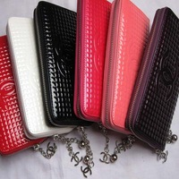 Genuine PU Leather fashion Handbag Lady wallet Clutch Purse Evening Bag 10pcs/lot