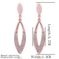 18k gold plated earring , High quality!18k gold earrings,wholesale fashion jewelry earrings lkn18krgpe304