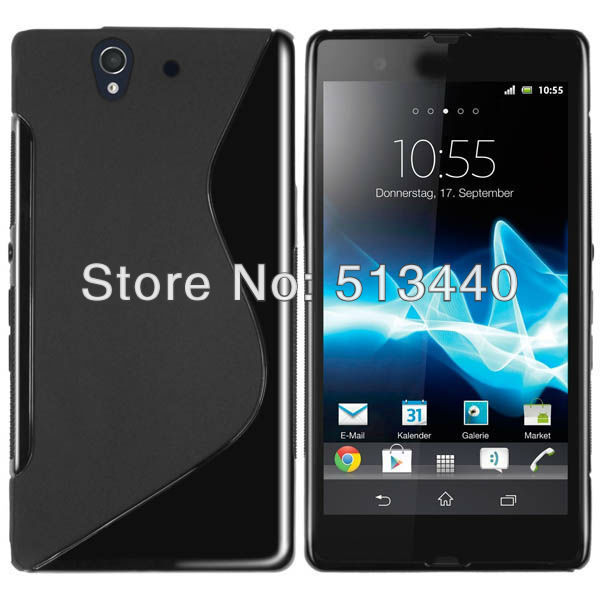 Hotsale!!! S Line TPU Cover Case Gel Protector Skin For Sony Xperia Z L36h(China (Mainland))