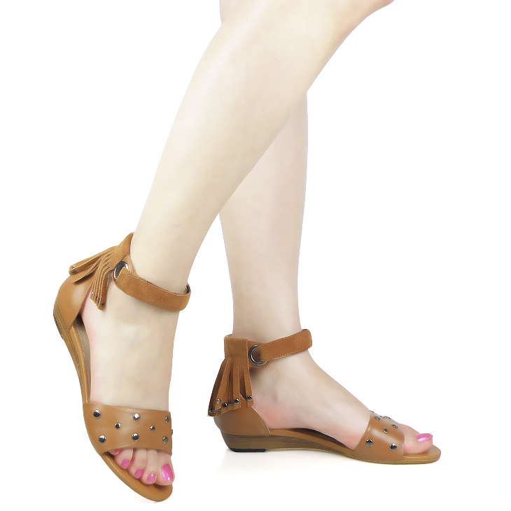2013 summer sandals genuine leather gladiator package with flat women shoes open toe(China (Mainland))