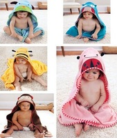 NEW Animal Baby Cute hooded bathrobe/ baby bath towel/bath terry children infant bathing robe Little Spring