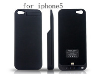10pcs/lot free shipping External Backup Battery Case Power Pack Bank Extended For iPhone 5 5G