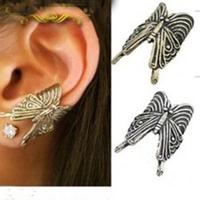 #124 Punk Style Vintage Alloy Butterfly Earring Clip Ear Cuff Jewelry Wholesale 24pcs/lot
