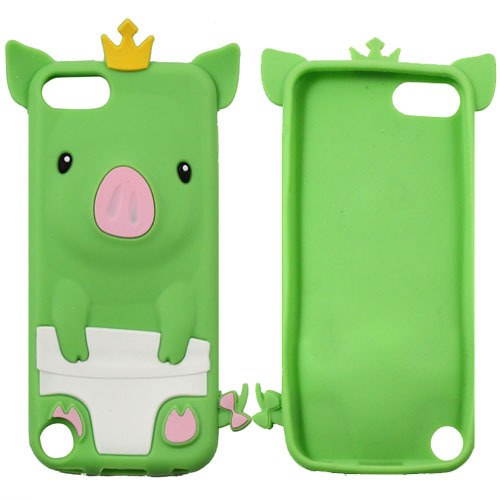 10pcs/lots DropShipping New Soft Silicone Rubber Cute 3D Case Cover Pig Piggie For Touch 5 5th 5 Gen Free Shipping JS0382(China (Mainland))