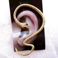 #121 New Fashion Chrome Snake Ear Cuff Stud Earrings Jewelry Wholesales Free Shipping 12pcs/lot