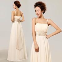 Elegant bride long design formal dress fresh evening dress bridesmaid dress design long chiffon bridesmaid dress  free shipping