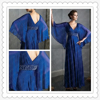 Freeshipping! ER2830 Latest Royal Blue Modest Prom Dresses with Sleeves