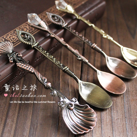 Fashion accessories vintage coffee spoon fashion classical tea spoon ice cream spoon dessert spoon small(China (Mainland))