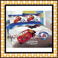 Free Shipping  4pcs Bedding Set Cotton Cars Printing Bedding Set Kid Children's