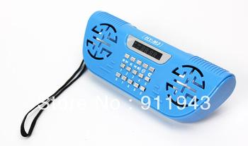 Freeshipping 1pcs Original HY-M3 plastic Portable mini speaker USB+TF slot+FM music player usb speaker