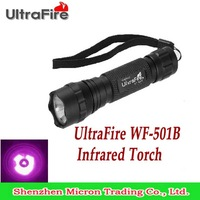 Free Shipping 3Watt Waterproof Infrared IR LED Night Vision Flashlight UltraFire WF-501B Infrared Torch