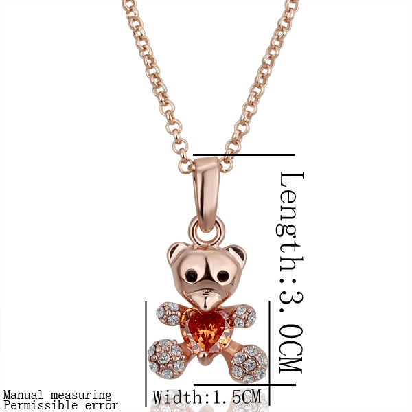 Hot mixed batch of Korean jewelry necklace fashion creative personality Teddy Bear Gift N088(China (Mainland))