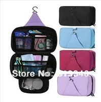 Free Shipping waterproof Cosmetic bag big capacity toilet kit / travelling wash bag ,hanging toiletry kit,4 Color make up bag