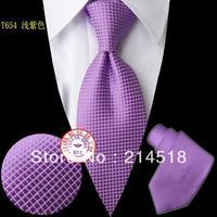2013 New fashion men's Skinny silk light purple ties for men  T654