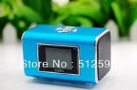 NiZHi TT6 portable Mini Speaker MP3 Speaker U-Disk + display screen FM radio TF 6 colors in stock 10pcs DHL fast ship