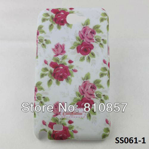 RETAIL, High Quality Country Style Flower Case for Samsung Galaxy Note 2 Hard Case for Samsung N7100 Case, FREE SHIP(China (Mainland))