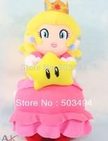 "Super Mario Plush Princess Peach With STAR Plush Doll 8"" Wholesale"