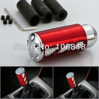 Universal Red Anodized Billet Aluminum Automotive MT Manual Transmission Gear Shift Knob Race Shifter Cover Car Truck SUV Coupe