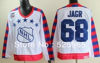 Hot!High Quality  Brand cheap ice Hockey jerseys nhl All Star All Star  68 jagr vintage jersey china,free shipping, mix order