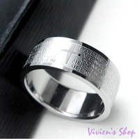 Free shipping Religious Jewelry Bible Cross Stainless Steel Rings for Men/Men's Rings R011