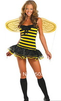 High Fashion Sexy Halloween Costume Animal Costume Flirty Bumble Bee Sexy Costume