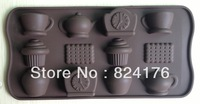 Free shipping Tea time type silicone cake Chocolate Mold Jelly Mold Cake Moulds Bakeware