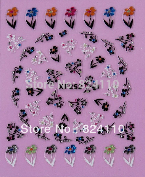 Nail sticker factory multiple shop promotion PVC material full figner nail sticker(China (Mainland))
