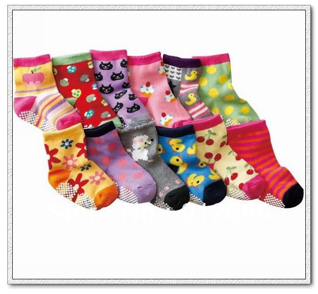 Non-slip baby socks jaquard ankle socks for boy and girl sox,infant footwear,12pairs/lot,free shipping(China (Mainland))