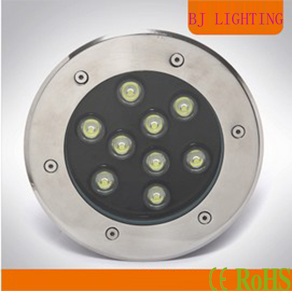 Free Shipping,10pcs/lot 9w Led Underground Lamps,900lm,AC12-24V,Warm white, cool white,deck light led(China (Mainland))