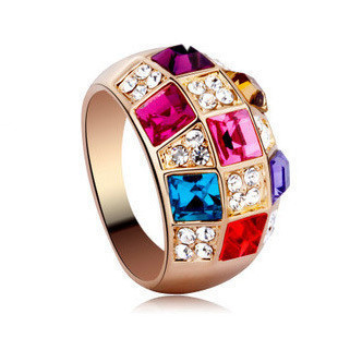 Colorful female rose gold color gold queen accessories index finger ring finger ring(China (Mainland))
