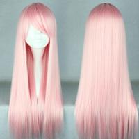 Free Shipping 70cm Long Light Pink  Beautiful lolita wig Anime Wig