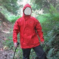 Windproof wear-resistant terylene hooded raincoat ride mountaineering outdoor camping poncho raincoat jacket waterproof military