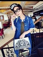 Cat bag 2013 vintage print envelope bag messenger bag shoulder bag handbag women's m36-035