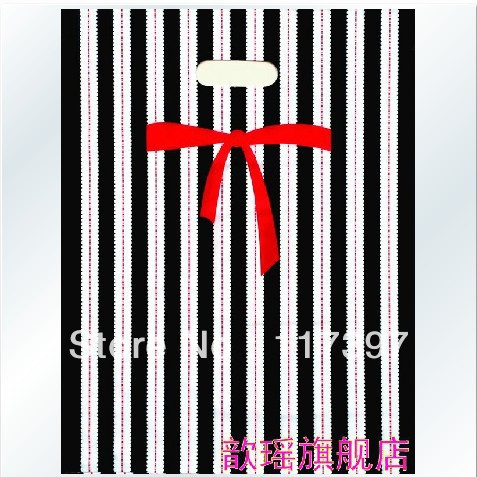 Free Shipping 100 High Quality Plastic Retail Gift Shopping Bags 25X35 cm SD-LLL11(China (Mainland))