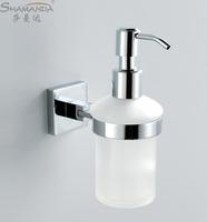 free shipping copper glass bathroom soap liquid brief quartet device bathroom accessories soap