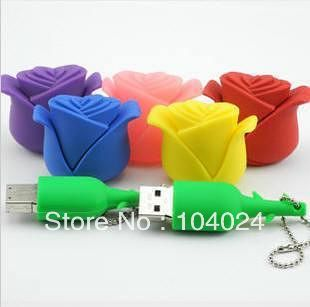 Fast ship 4gb 8gb 16gb 32gb purple blue pink yellow red rose option USB 2.0 flash drive memory pen disk Drop ship dropshipping(China (Mainland))