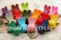 hair accessories Long-eared rabbit small rubber textured gripping claw clip  hairpin children