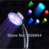 HOT!! 7 colour LED shower shower nozzle sprinkle flower, light color small nozzle showers, pressure shower heads,free shipping
