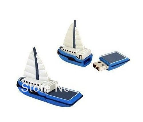 Fast ship 4gb 8gb 16gb 32gb sail boat shape USB 2.0 flash drive memory pen disk Drop ship dropshipping(China (Mainland))