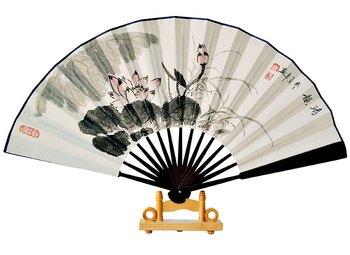 Free shipping! Technology fan rice paper fan hand painting fan summer gift colored drawing personalized fan