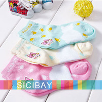 Pretty Socks Girls Cartoon Socks Children Cotton Warm Socks,9-15cm,3pairs/lot,Free Shipping  K0944