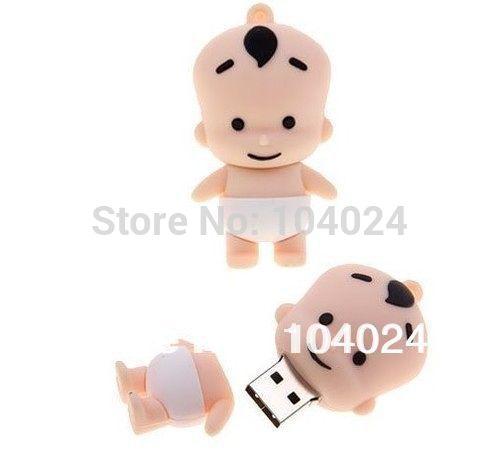 Fast ship 4gb 8gb 16gb 32gb lovely boy baby kid shape USB 2.0 flash drive memory pen disk Drop ship dropshipping(China (Mainland))