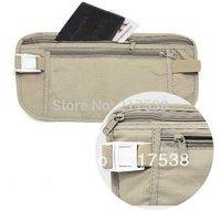 Safe Travel Money Passport Waist Packs Security Waist Belt Strap Holders Wallets Bags Purses DP 640245 Free Shipping 2pcs/lot