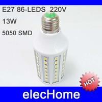 HOT! E27 18W 5050 SMD 102 LEDs Corn Light Bulb Lamp Light E27 AC 210-240V 220V 230V 240V LED White or Warm White Free Shipping
