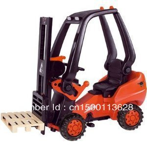 Big Toys Kids Ride On Working Forklift Truck Indoor Outdoor Pedal Car Fork Lift(China (Mainland))