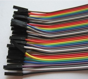 80pcs Dupont wire cable 1p-1p Female-Female connector 30cm 2.54mm For Arduino