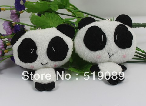 Wholesale 10cm Lovely Panda Doll Cell Mobile Phone Charm Strap Lanyard Keychain& Mobile Phone Pendant&Bag Pendant&Ornaments(China (Mainland))