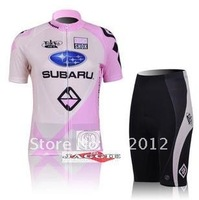 New SUBARU 2012 riding a bicycle in New Jersey cycling clothing cycling jersey+ cycling shorts in the summer and fall